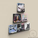 Nástenný držiak na LP Audiovisions koľajnička