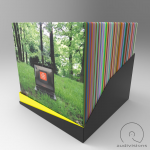 Box na LP Audiovisions amorfný pre 90 platní