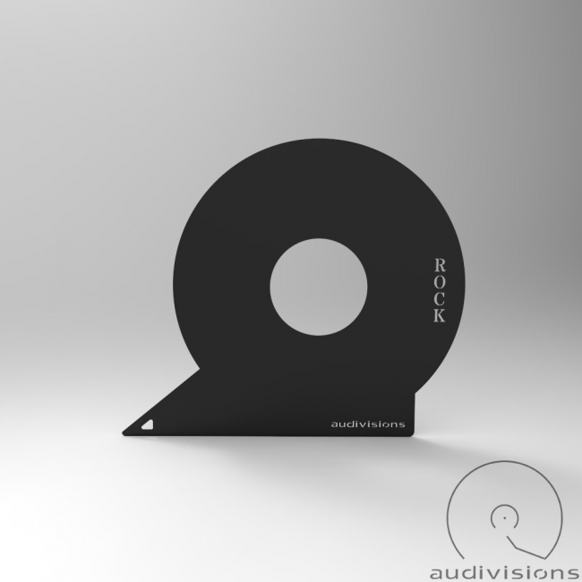 Horizontálny organizér na LP podľa žánrov Audivisions - Žáner Rock
