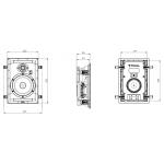 Vstavaný reproduktor Focal 300 IW 6 Biela