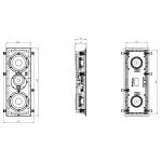 Vstavaný reproduktor Focal 300 IW LCR 6 Biela