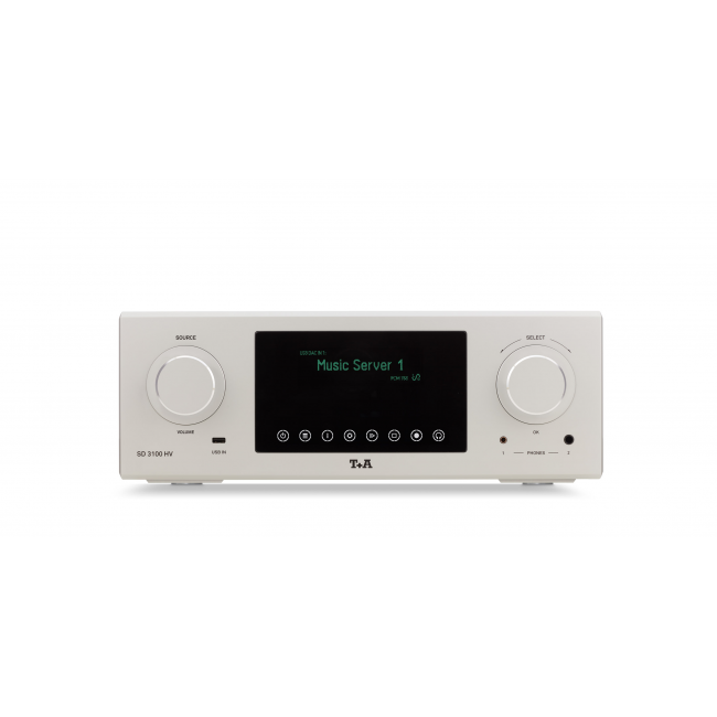 Prevodník Streaming DAC T+A SD 3100 HV - Titanium 64
