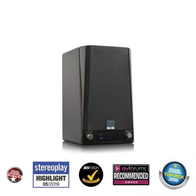 Reproduktor regálový SVS Prime Wireless Speaker System Stereo so zabudovaným streamerom (2ks v balení) - Čierny Lak