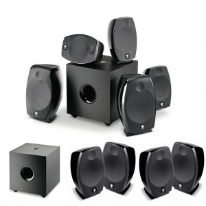 Domáce kino 5.2.6 - Sib EVO Dolby Atmos 5.1.2 + Cub EVO + 2 x Sib EVO 2.0 Čierna