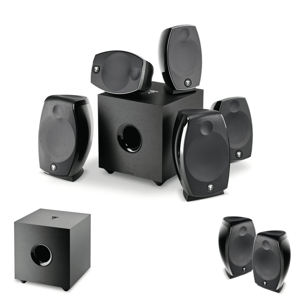 Domáce kino 7.2.4 - Sib EVO Dolby Atmos 5.1.2 + Cub EVO + Sib EVO Dolby Atmos 2.0 Čierna