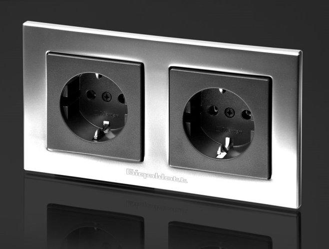 Hifi zásuvka dvojitá GigaWatt G-044 Duplex