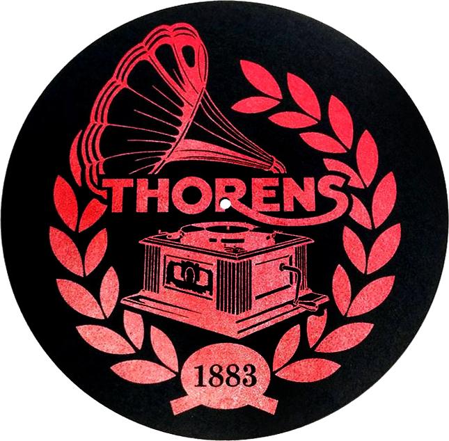 Podložka Thorens Felt Mat čierna s logom Thorens
