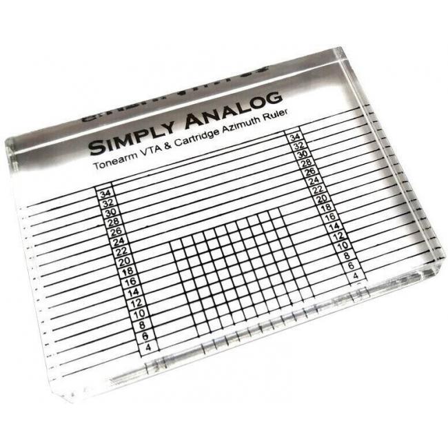 Akrylová VTA šablona pre nastavenie VTA a azimutu gramofónu Simply Analog - Tonearm VTA & Cartridge Azimuth