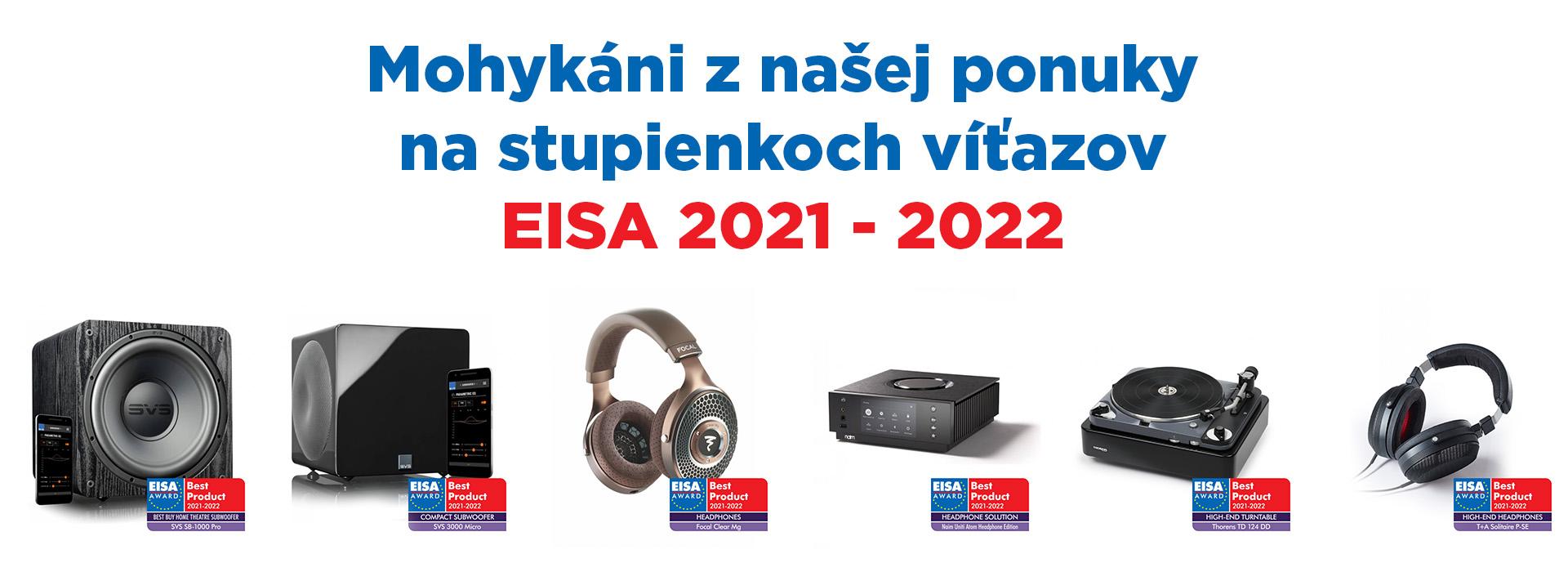 Naše produkty získali najlepšie hodnotenia od prestížnej organizácie EISA pre rok 2021-2022